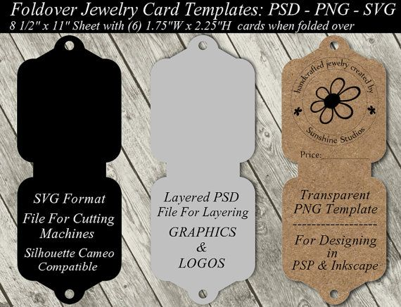 Jewelry Card Template Available In SVG Cutting File - Layered PSD ...