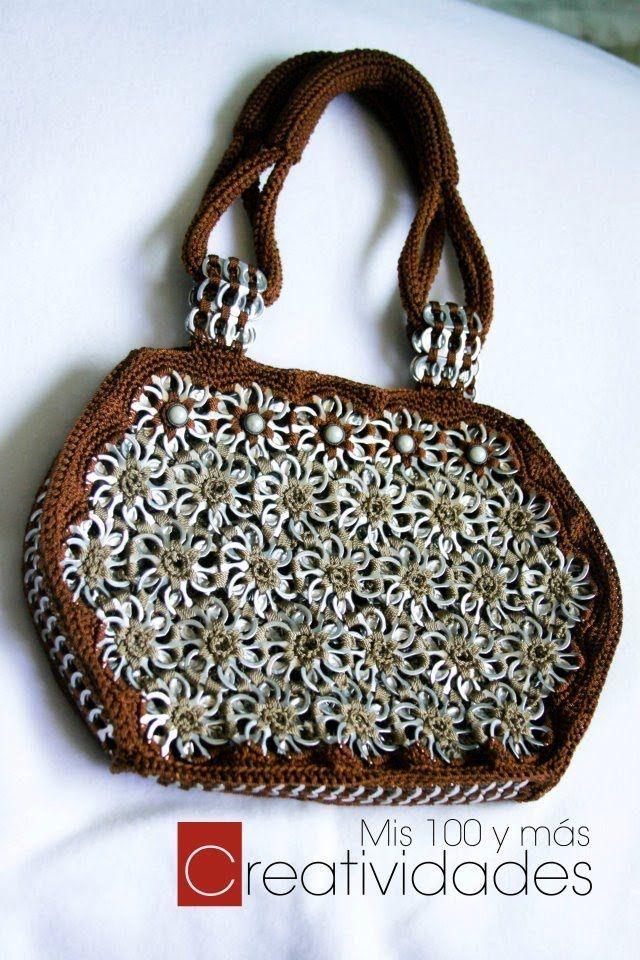 How To Crochet A Handbag With Soda Pop Tabs Queta Purse Part 3 Play