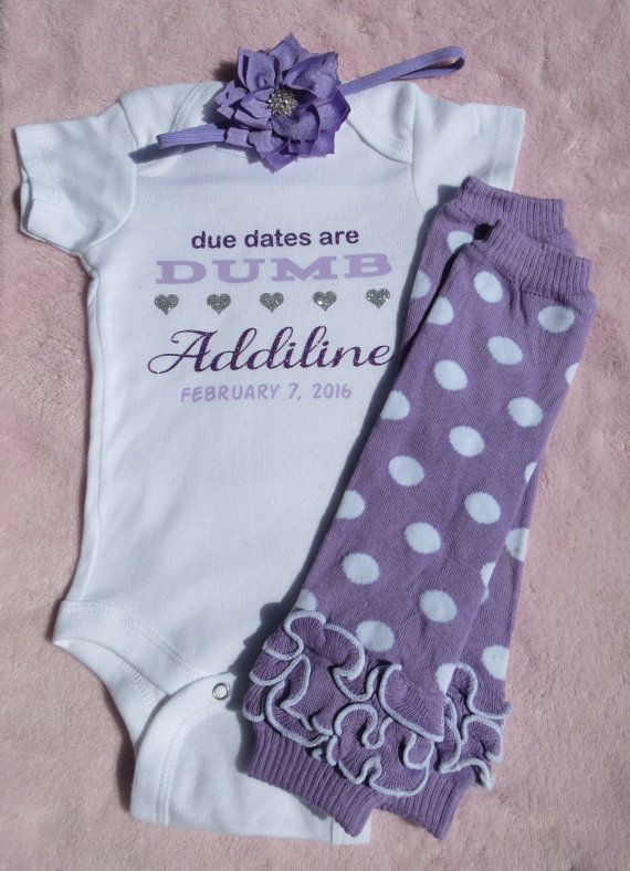 Baby girl Purple due date Preemie twins one by