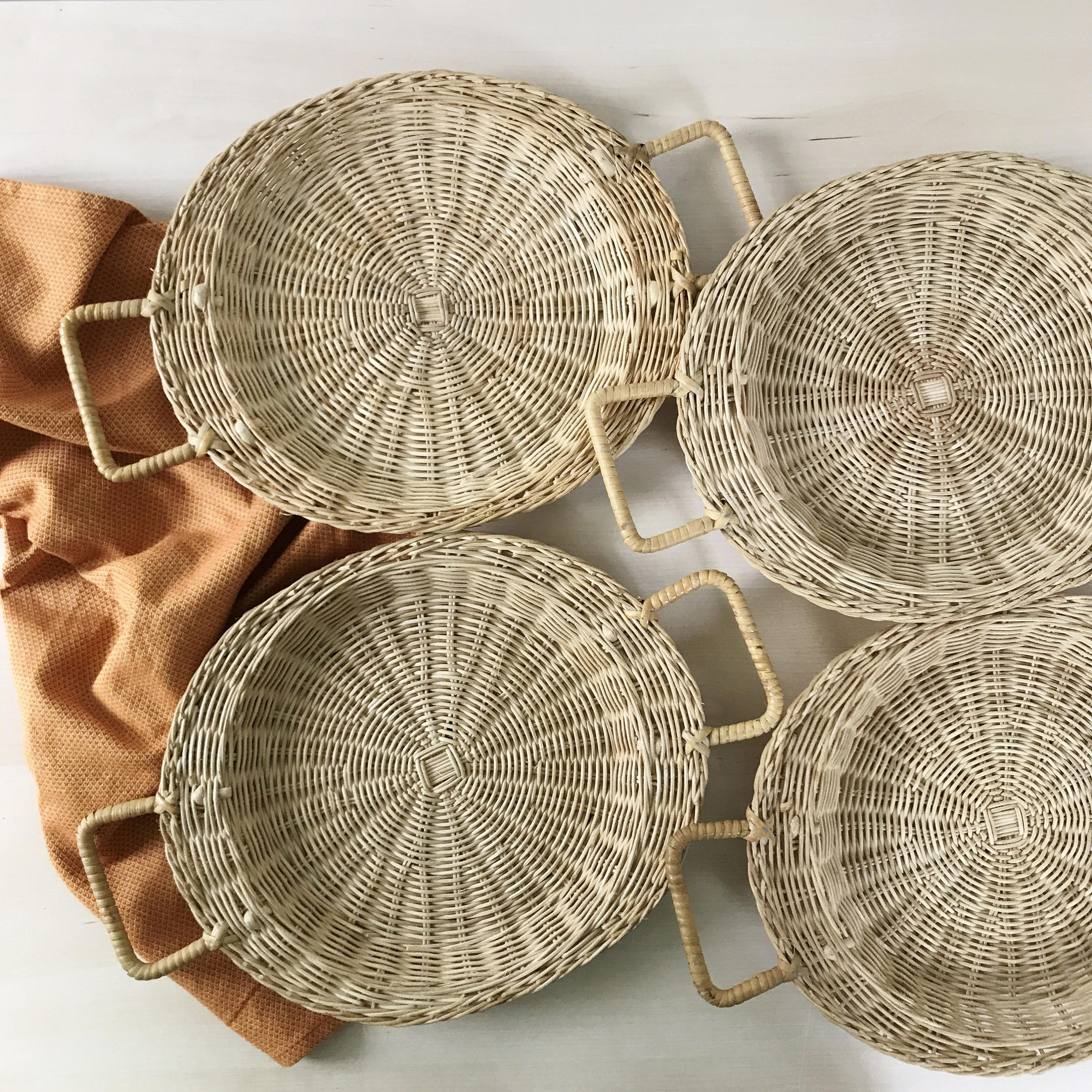 Your Place To Buy And Sell All Things Handmade Boho Wall Decor Paper Plate Holders Wicker