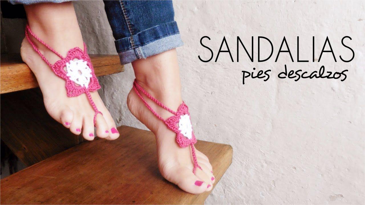 Sandalsenglish Descalzos Sub Pies CrochetBarefoot Sandalias A jL4RA35