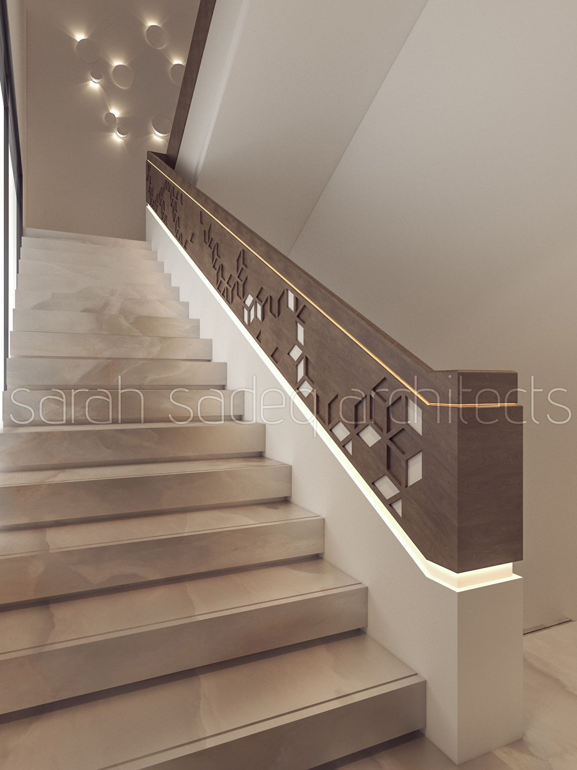 Best Interior Sarah Sadeq Architects Kuwait Modern Stairs 400 x 300