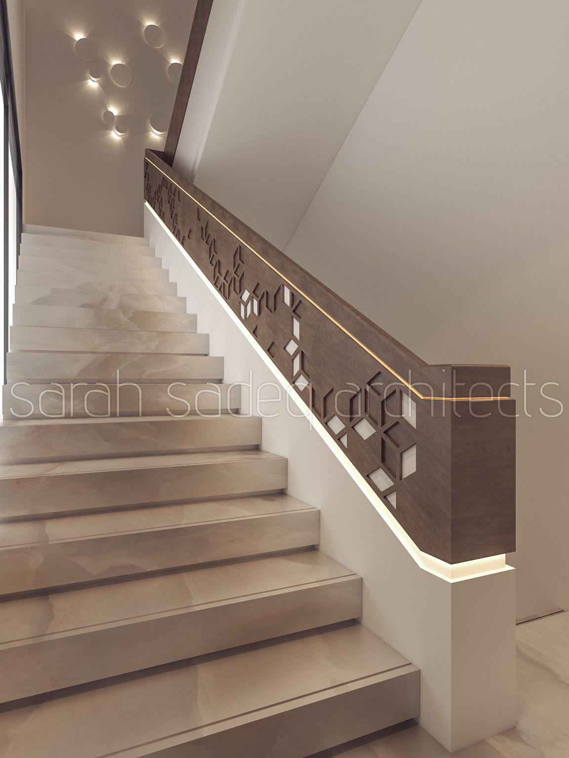 Interior sarah sadeq architects kuwait stair walls stairs staircase handrail modern also best images in hand railing rh pinterest