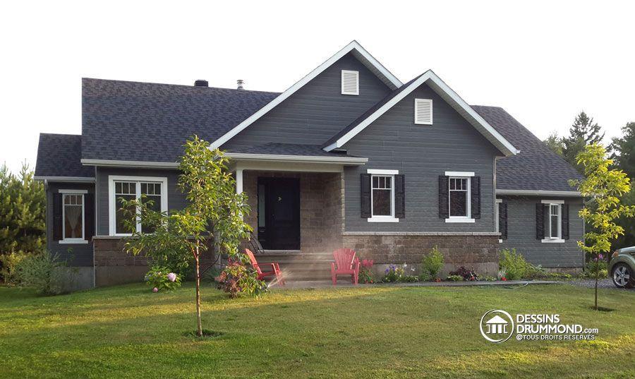Détail du plan de Maison unifamiliale W3133-V1 house Pinterest - liste materiaux construction maison