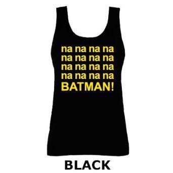 50ad727e Batman Tank Tops for Women | Batman Theme Tune Superhero Na Na Na Na Funny  Slogan Vest Tank Top .