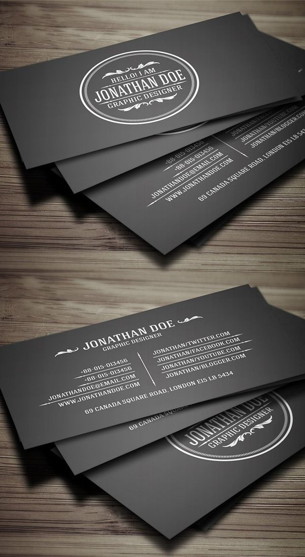 Vintage Business Card Design | Graphic Design | Pinterest | Business ...