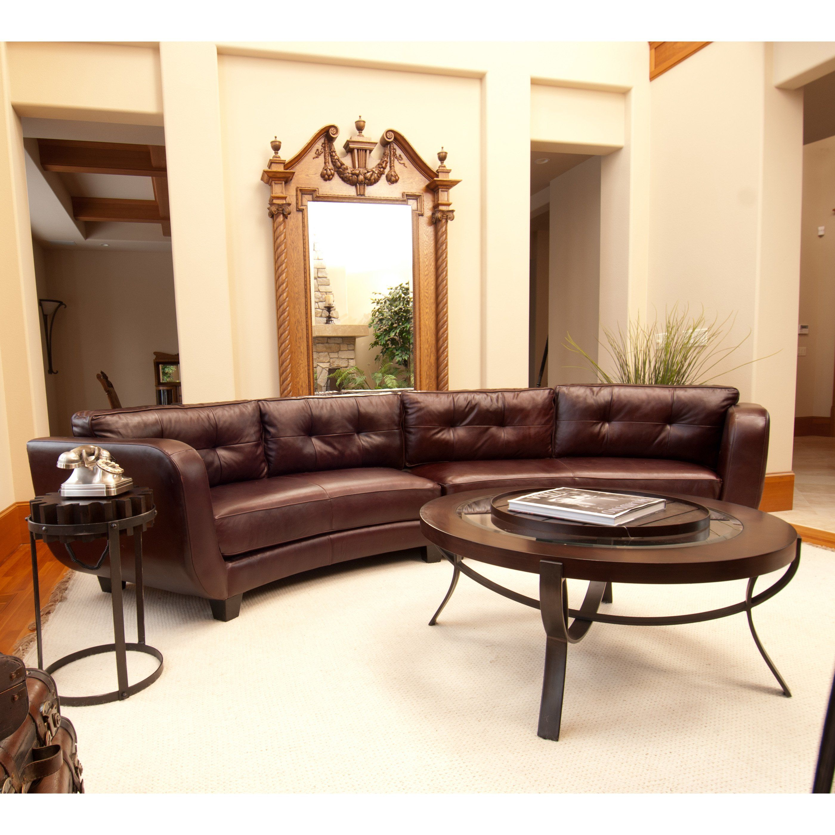 Have to have it Elements Vittorio Top Grain Leather Sectional