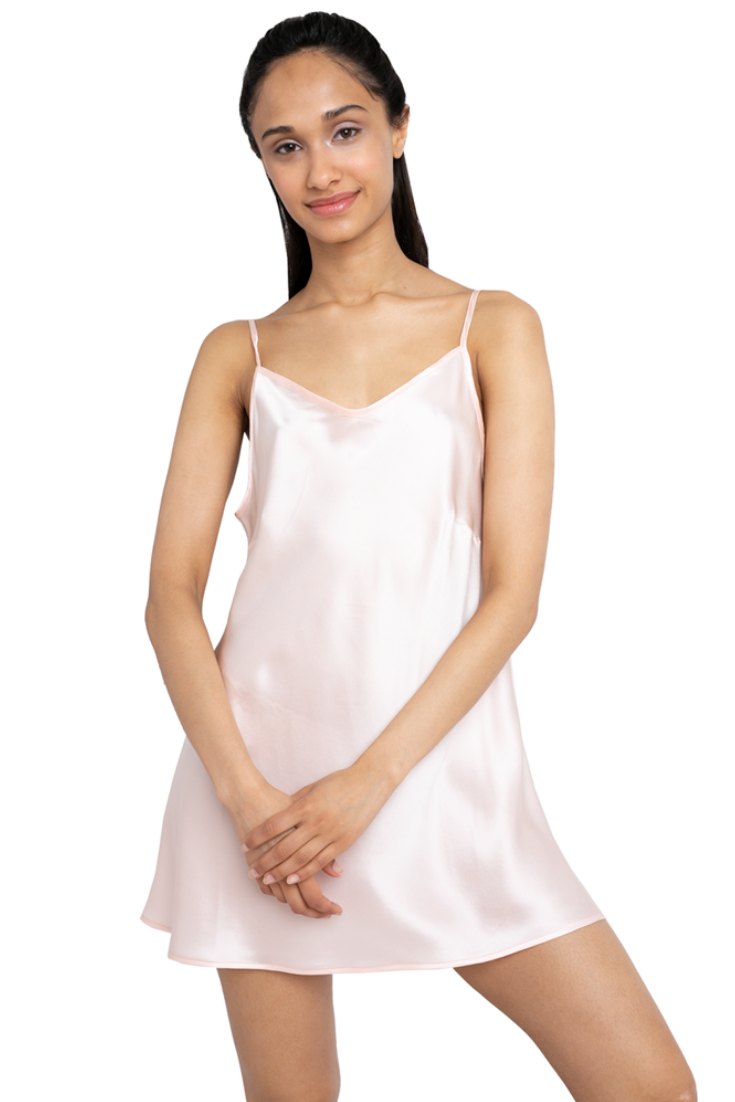 This  charming v-neckline  silk  mini  slip  dress exudes an  effortless   elegance.  Designed shorter than normal  slip  dresses to give you more  air and ... 00c05d1a5