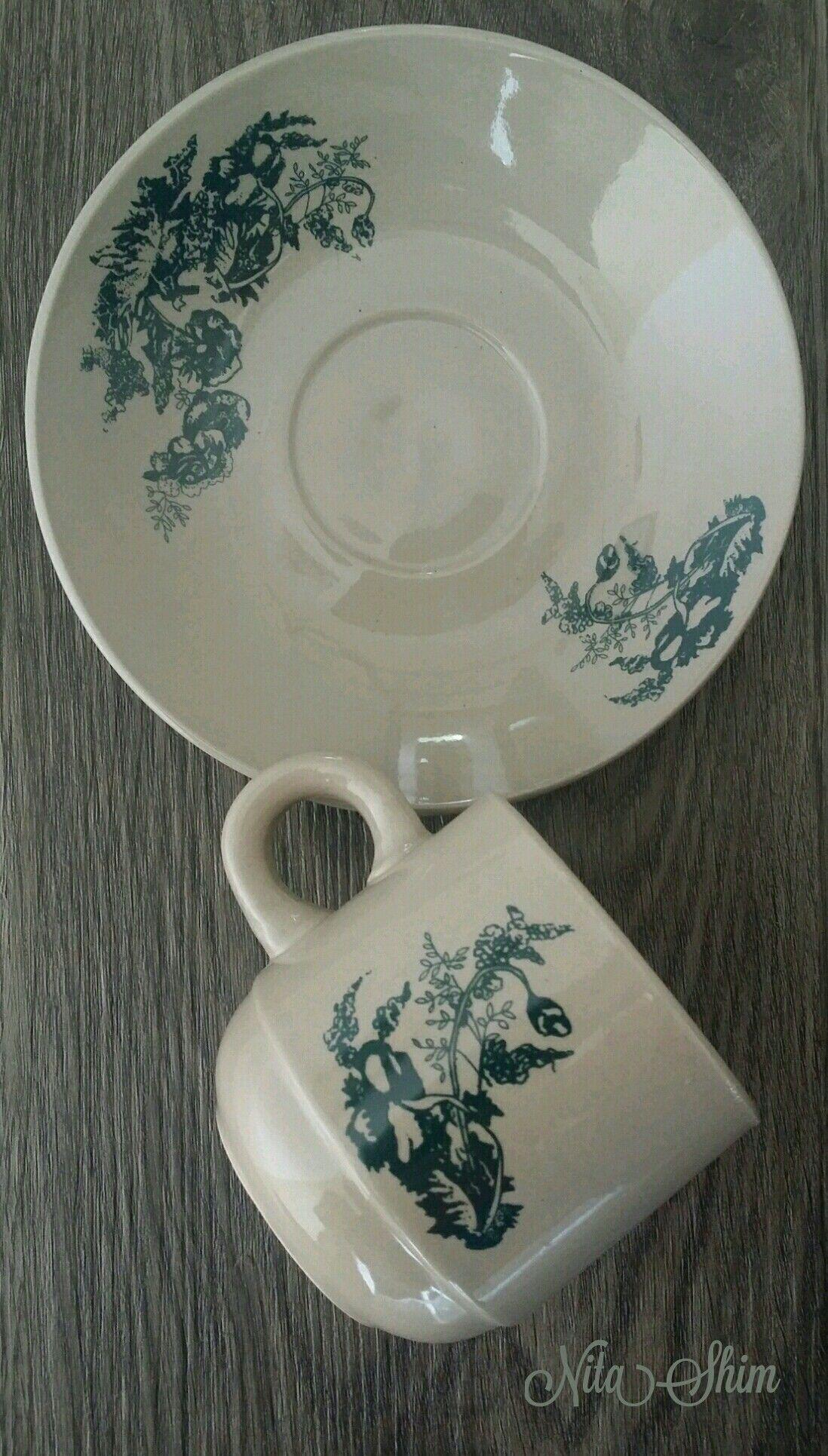 Vintage Oriental Kopitiam Cup And Saucer Cup And Saucer Tea Set Cup