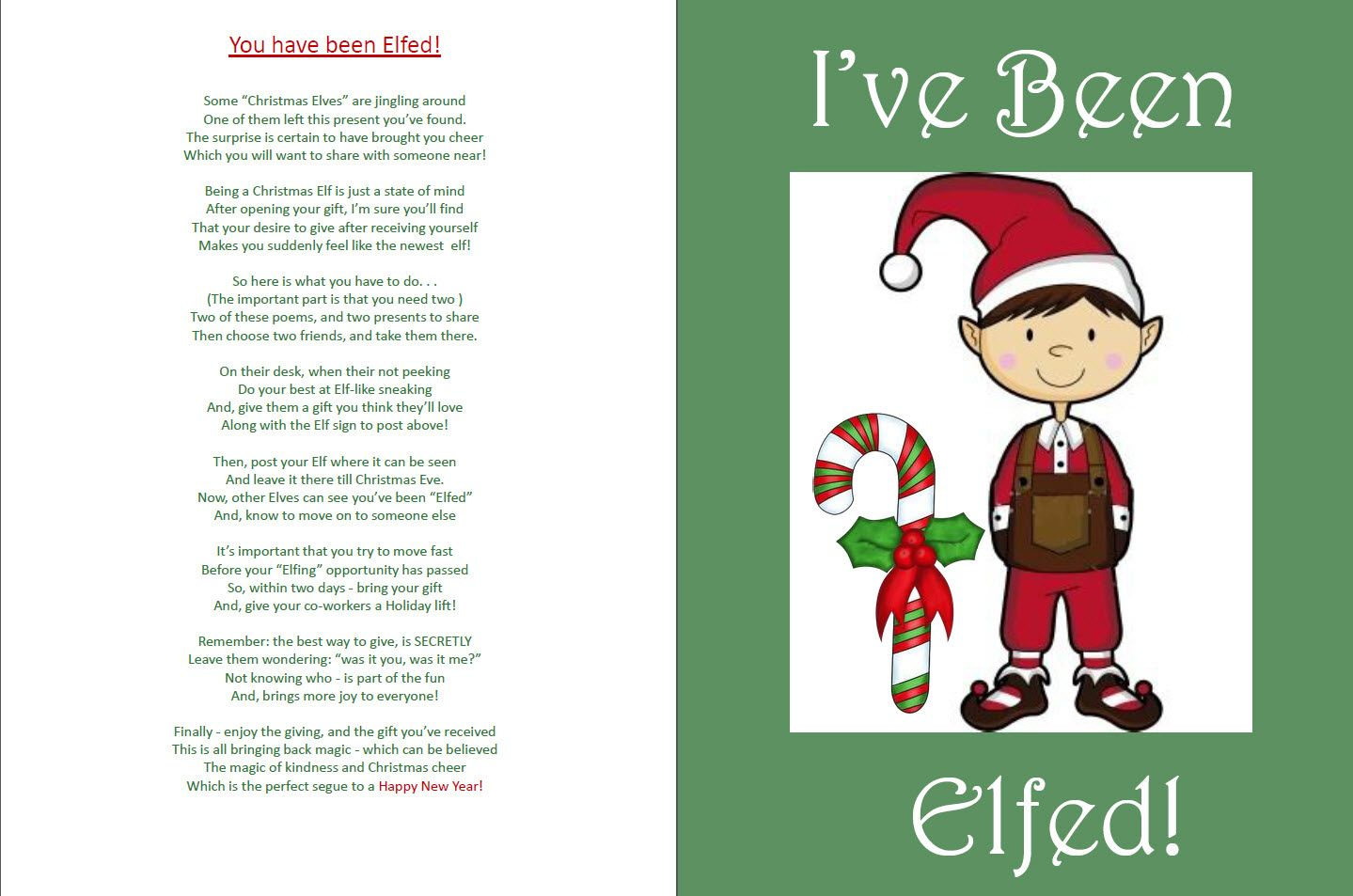 picture regarding You've Been Elfed Printable identify I created this edition of \