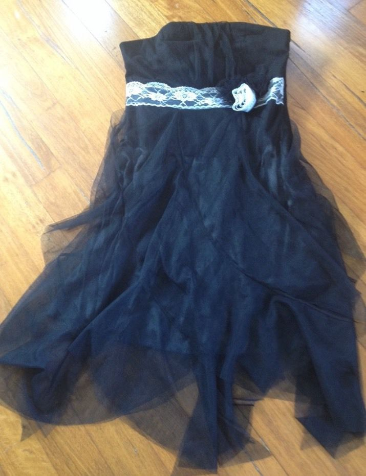 Miss Anne Brand New With Tags Size M Strapless Black Tulle Lace
