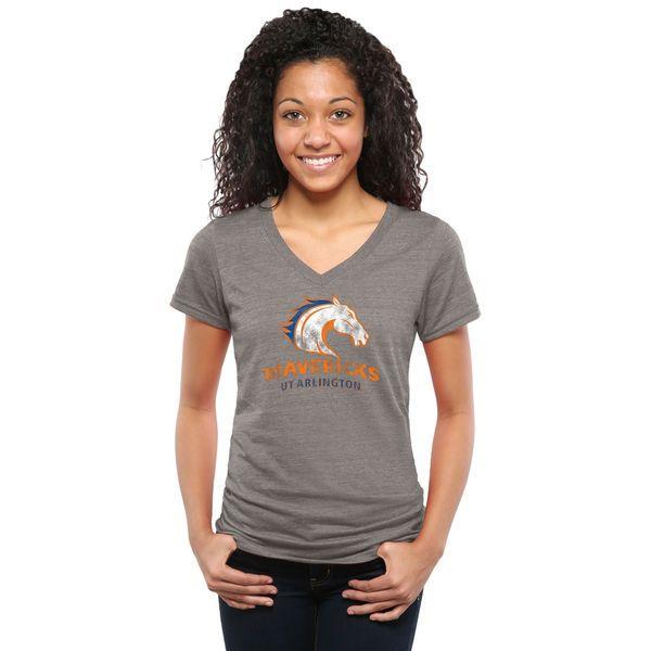 UT Arlington Mavericks Women's Classic Primary Tri-Blend V-Neck T-Shirt - Gray - $24.99