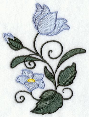 Machine Embroidery Designs at Embroidery Library! - Color Change - C4204 11813 whimsical wild bellflowers