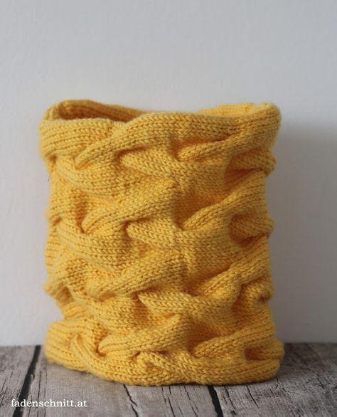 Snood im Zopfmuster stricken - Idee im Link   special knits   Pinterest