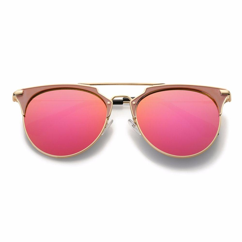 72c12b67af4 ... Fashion Retro Round Cat Eye Sunglasses Men Women Designer Eyewear Metal  Frame UV400 Glasses oculos de ...