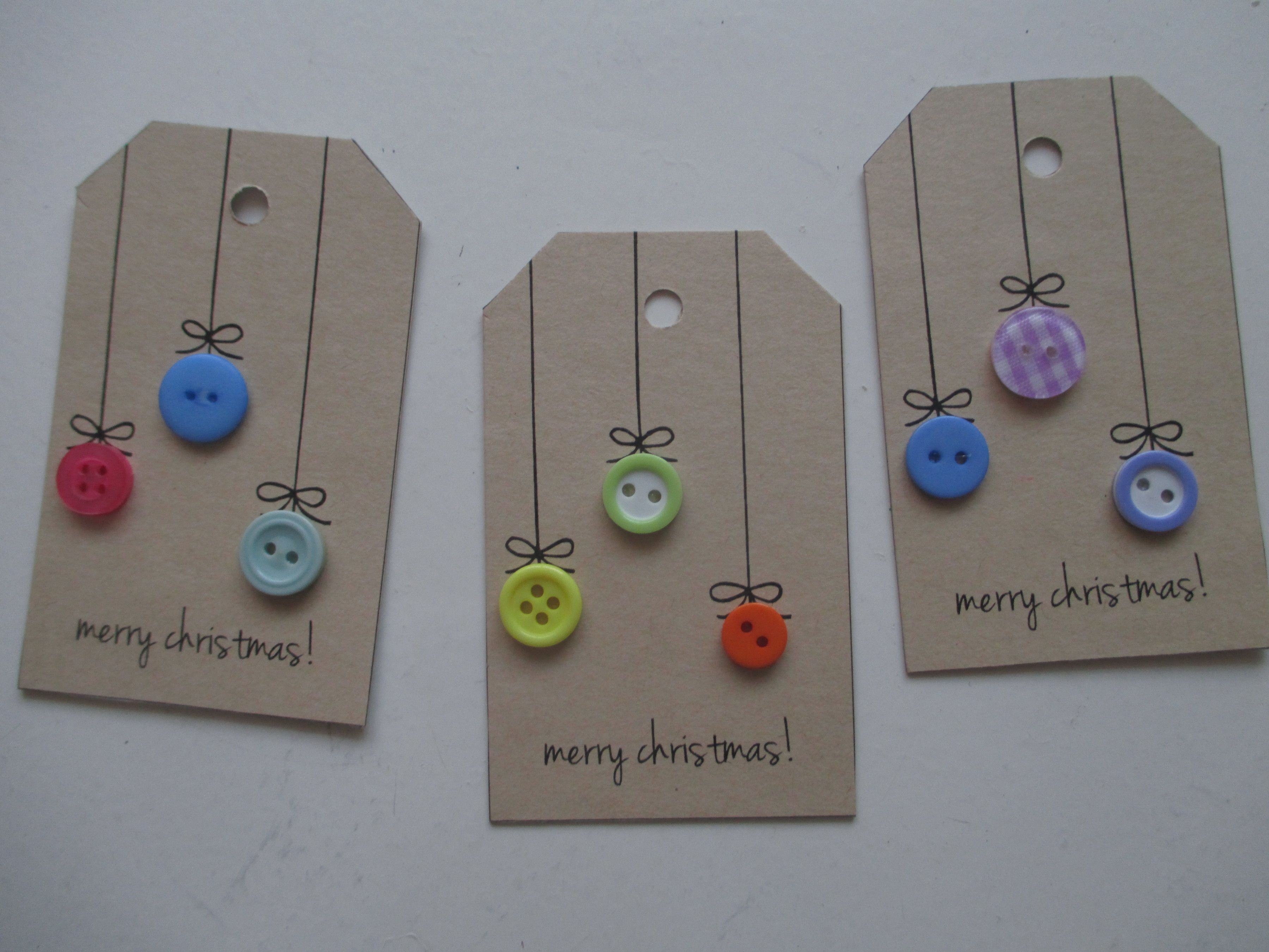 Kraft tags for Christmas - who doesn't love buttons? - Scrapbook.com