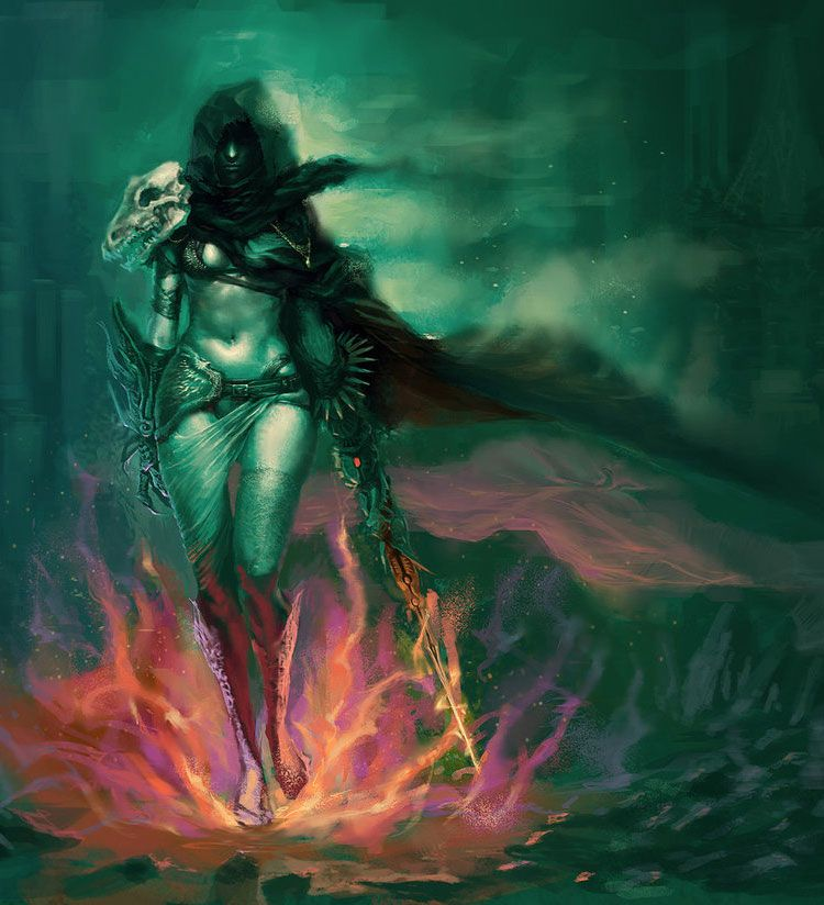 Dance with the Dragons - Dark Fantasy Art Featuring lin bo | MtG ...