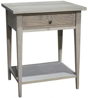 Exceptional Wrigley Pedestal Grey Wash Oak. A Block And Chisel Product.