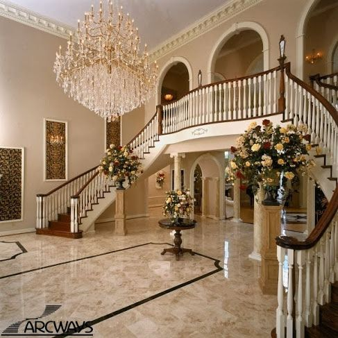 marble floors double stairs