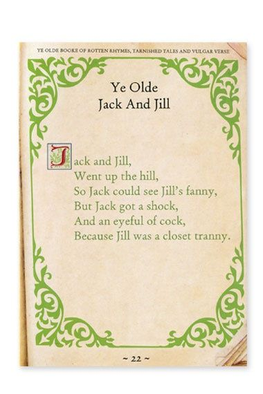 Dirty Nursery Rhymes For S Top 10 Old Revised Jack And Jill