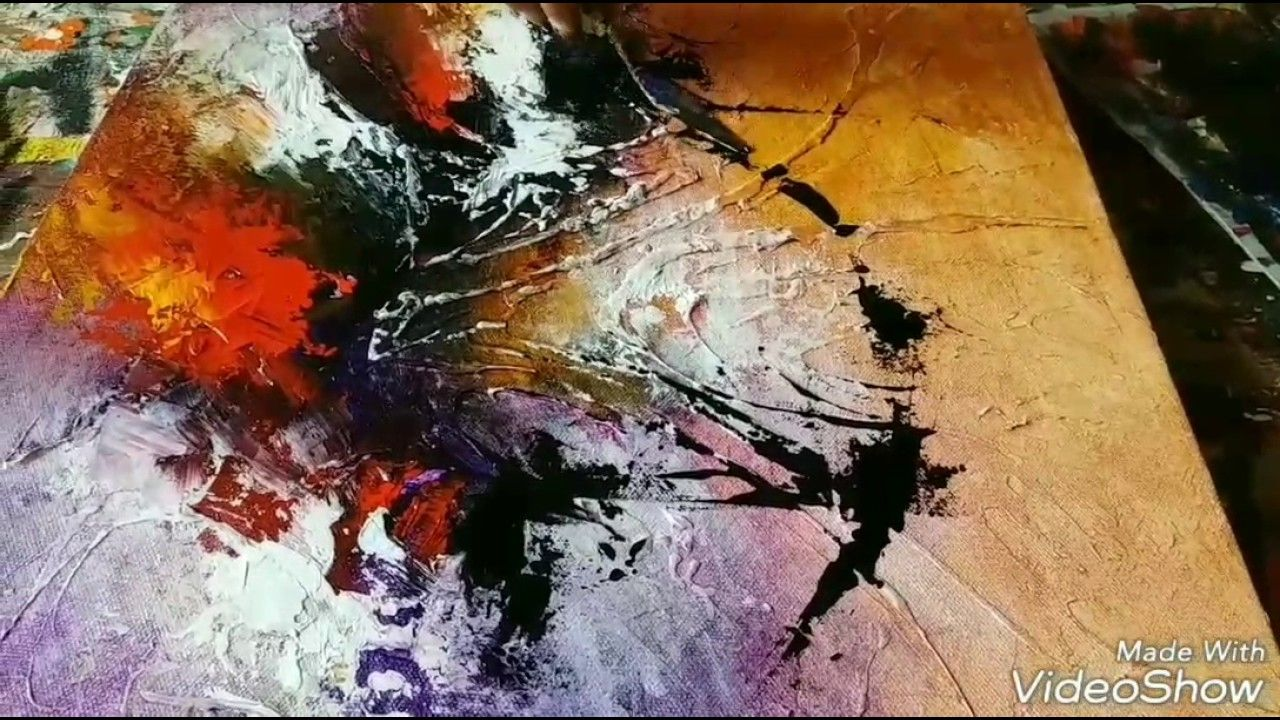 Abstrakte Bilder Acryl Youtube New Acrylic Abstract Painting Abstract Art Demonstration