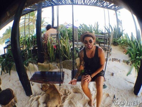 adam lambert shares his christmas vacation on instagram adam lambert pinterest adam lambert