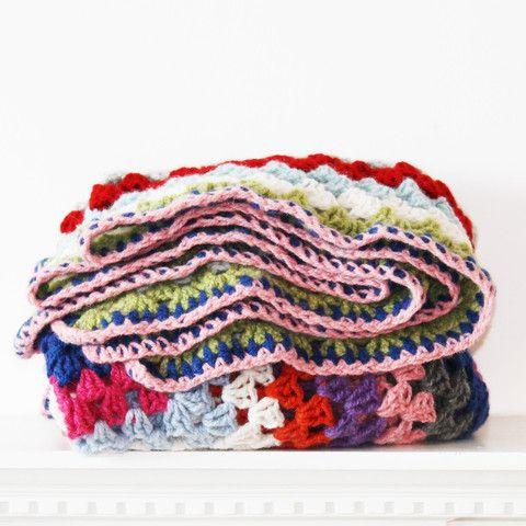Lambswool Crochet Blanket (No 6)