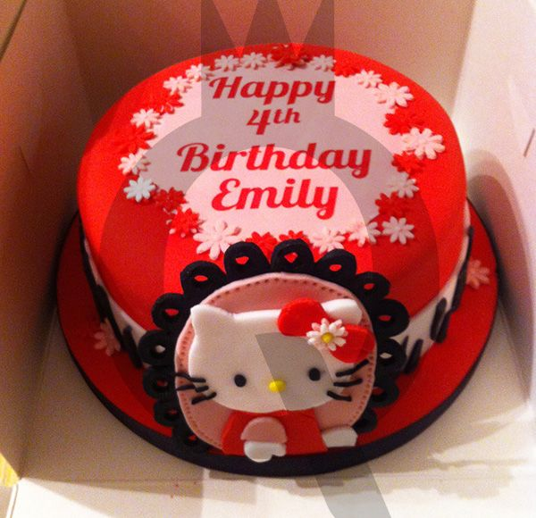 Hello Kitty Cake 2 Cake Design Hello kitty cake, Cake, Kitten