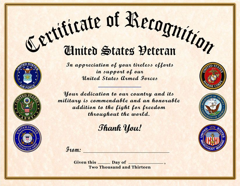 Certificate of appreciation template certificate of appreciation certificate of appreciation template certificate of appreciation military veteran certificate yadclub Choice Image