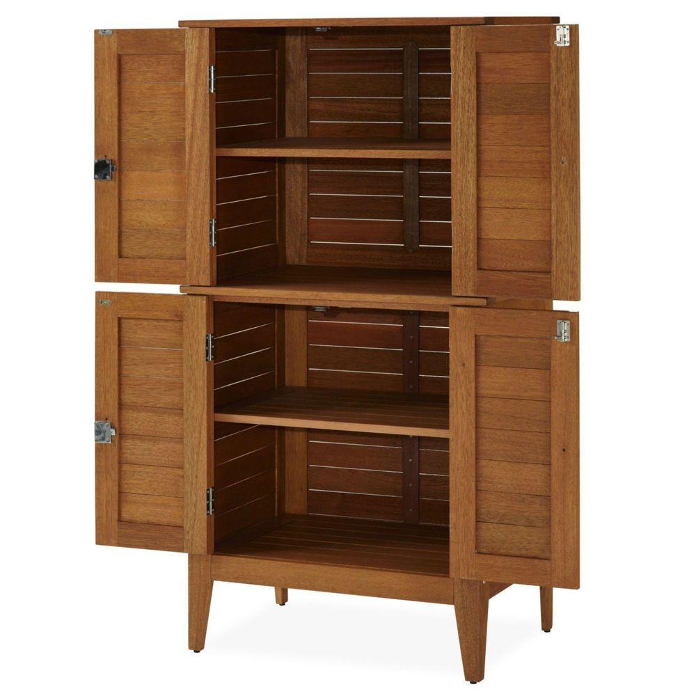 Multi Purpose Storage Cabinet Armoire Wood Outdoor Organizer 4 Door Lockable Storagecabinet Gardentool Multipurpose Storage Wood Storage Cabinets Home Styles