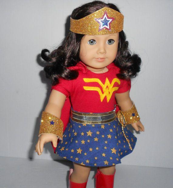 Wonder Girl (Wonder woman) superheroine costume doll clothes for ...