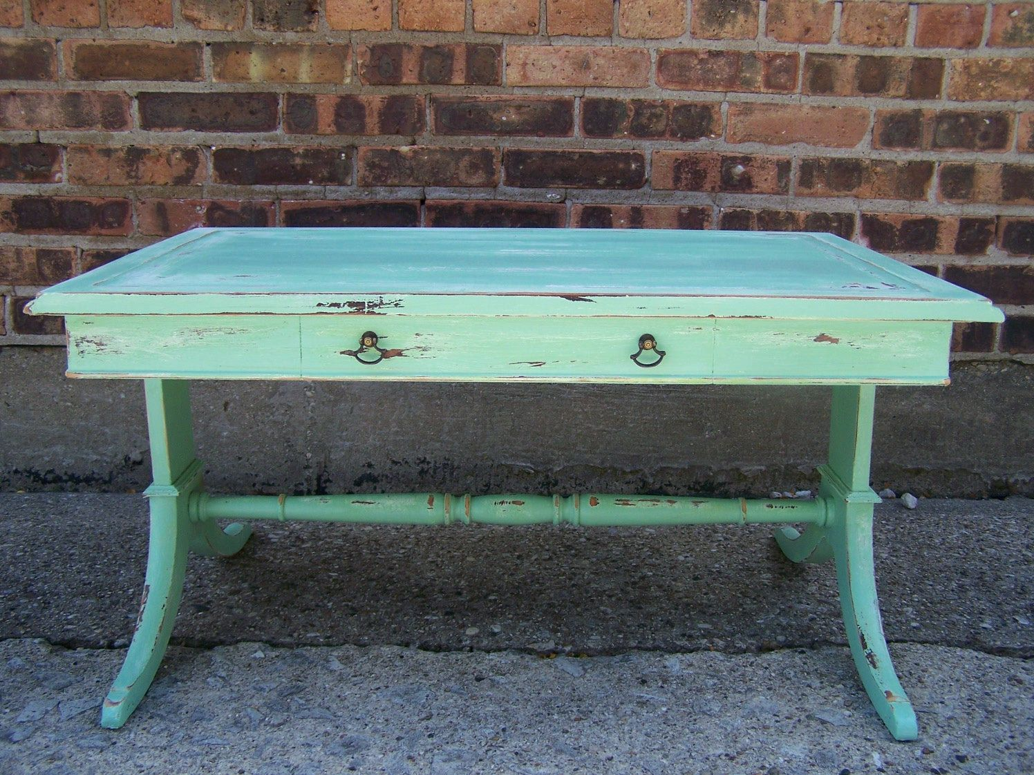 - Mint Green Distressed Coffee Table Green Distressed Furniture