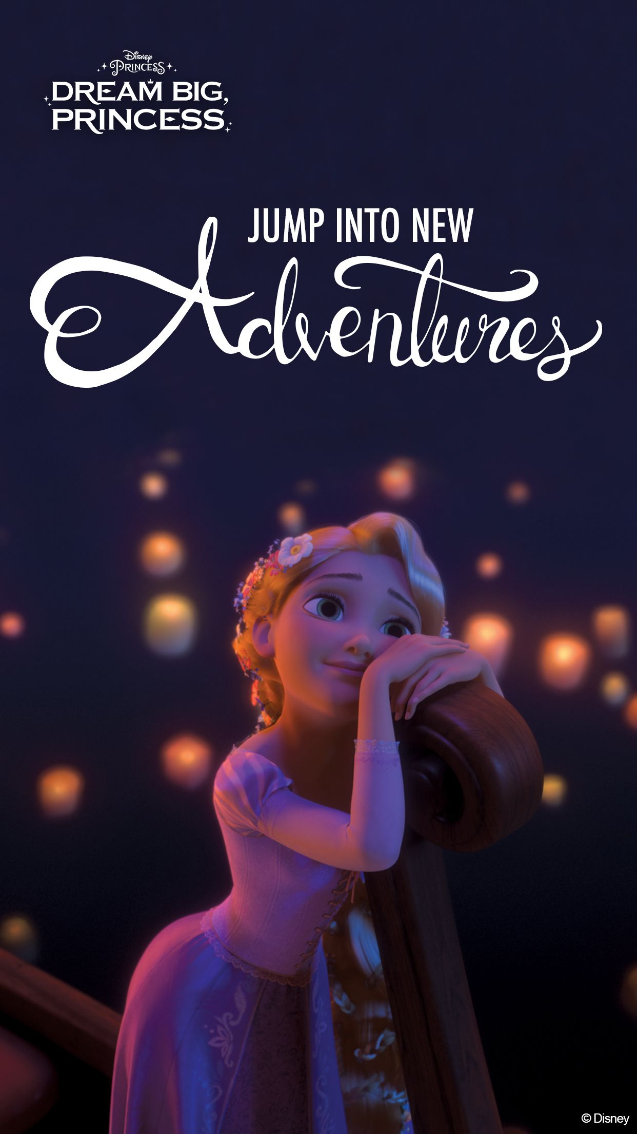 Download These Inspirational Dream Big Princess Wallpapers On To Your Phone And Share It With Your F Disney Princess Wallpaper Disney Kids Princess Rapunzel