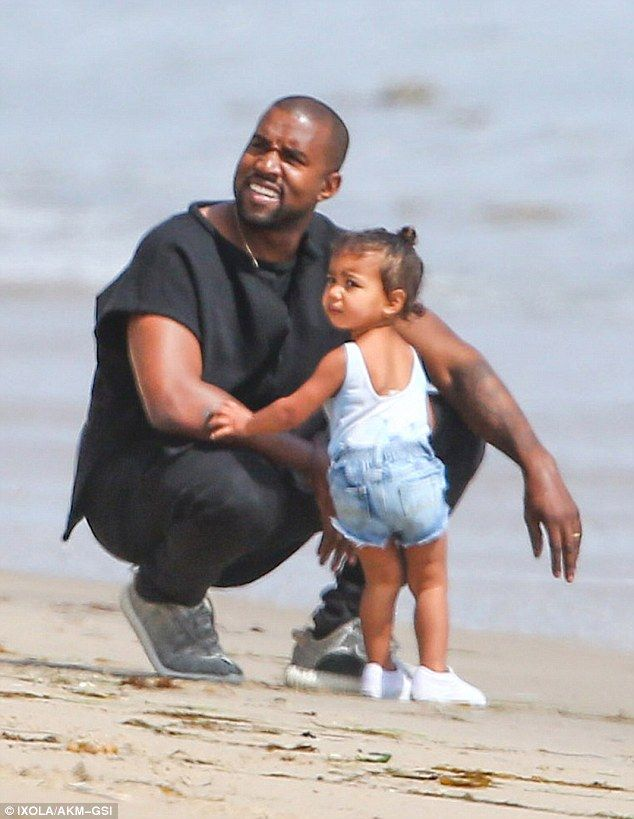 Kim Kardashian Looks On As Kanye And North Enjoy The Surf In Malibu Kim Kardashian Kanye Kardashian