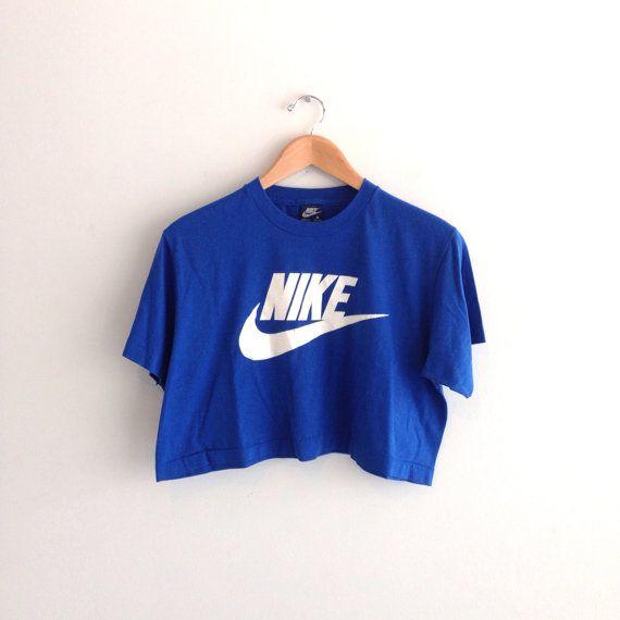Vintage Nike Crop Top Half Shirt Large