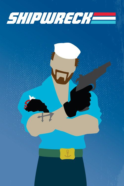 G.I. Joe Minimalist 80s Character Poster: Shipwreck