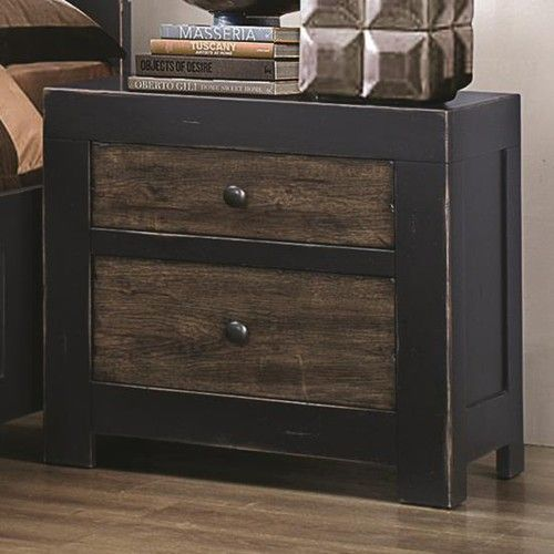 coaster segundo two drawer night stand coaster fine furniture