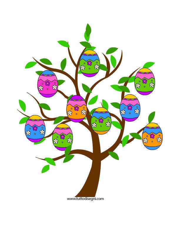 Idea Cartellone Di Pasqua Tuttodisegni Com Pasqua Albero Di