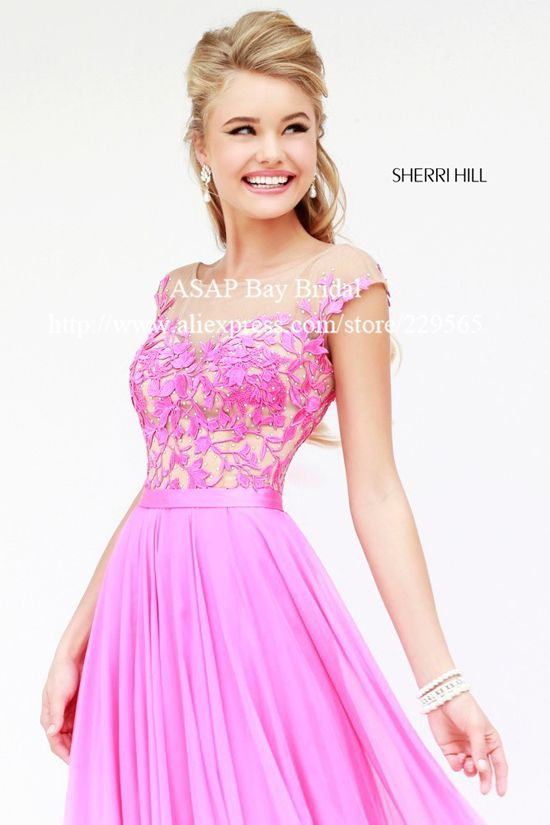 Free Shipping 2014 New Arrival Lace Prom Dress With Sleeves Cap ...