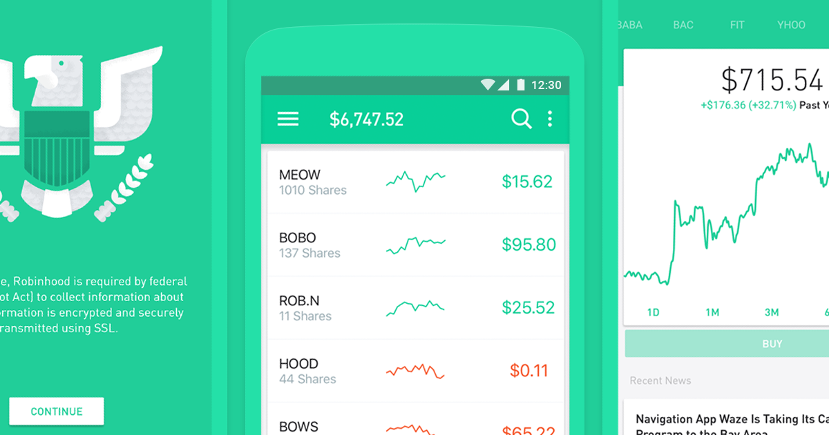 The Robinhood app is successful in its overall design
