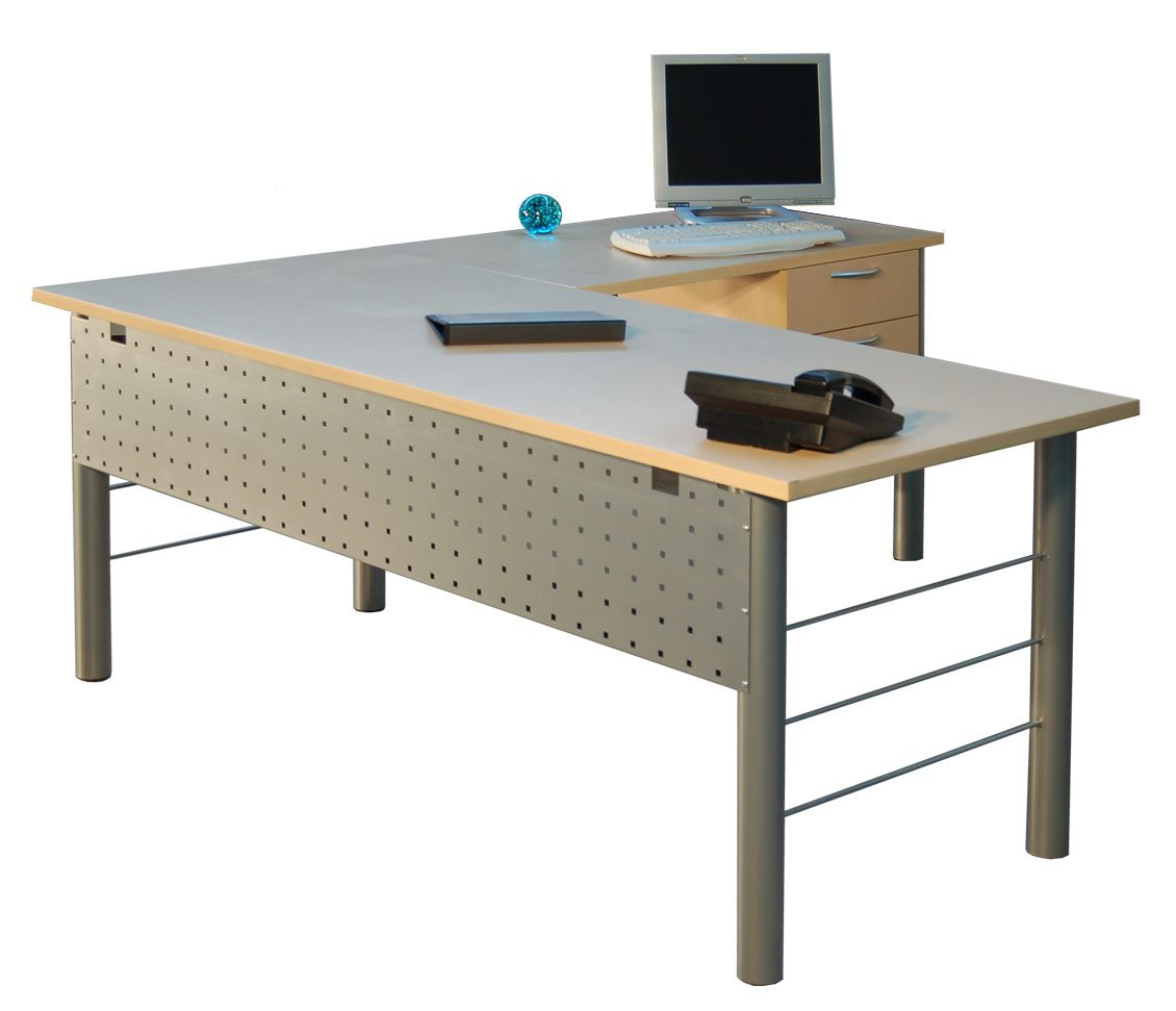 metal leg l-shape desk (modern) | desks | pinterest | desks and modern