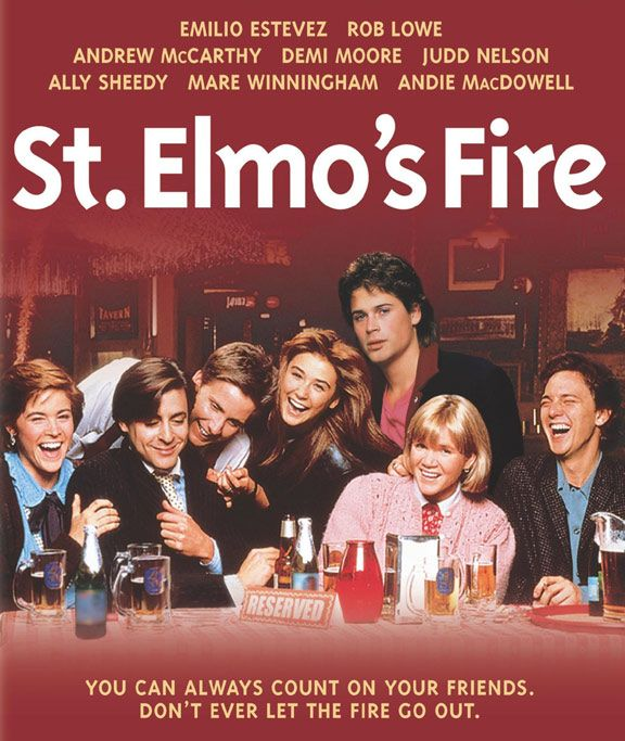 St Elmo S Fire 1980s Film About Leaving College Starring