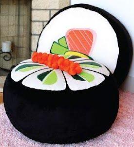Preciso dessa almofada de Sushi