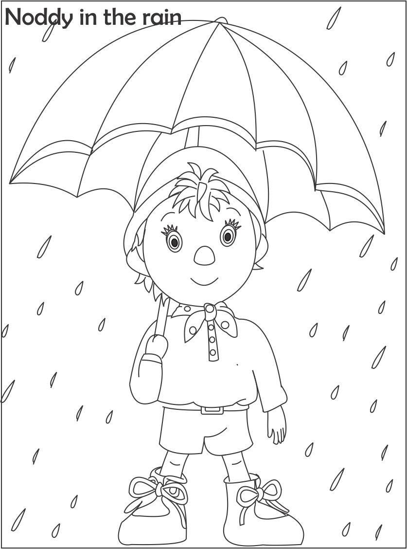 Noddy coloring printable page for kids 2 Ro n obdob