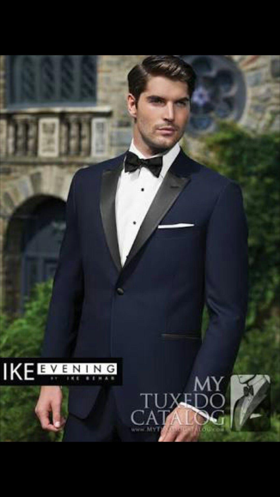 Midnight blue tuxedo Blue tuxedo wedding, Midnight blue