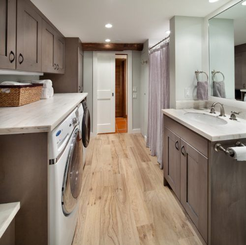 dark gray bathroom laundry room combo design ideas bathroom