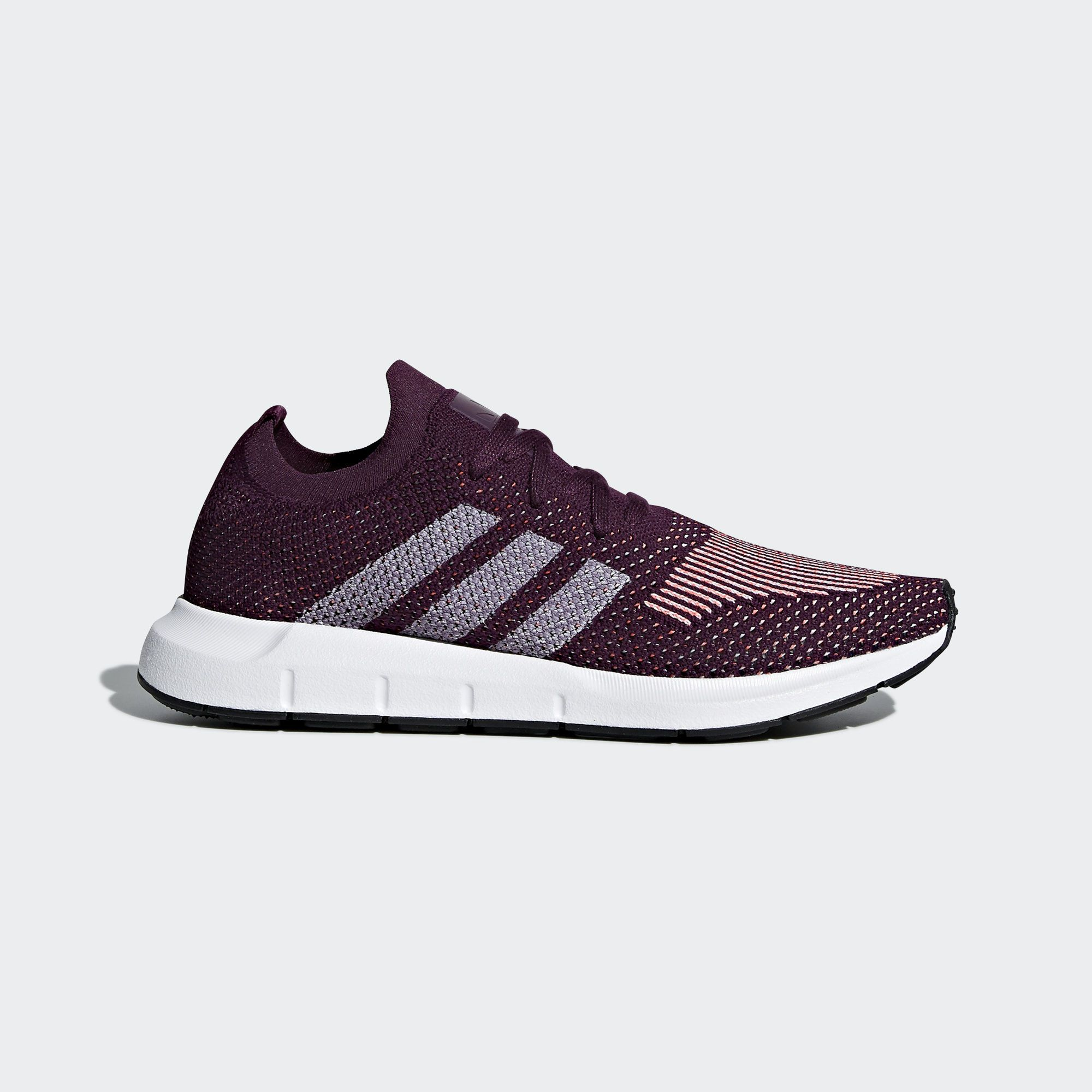 Swift Run Primeknit Shoes Red Womens Best Walking Shoes Adidas