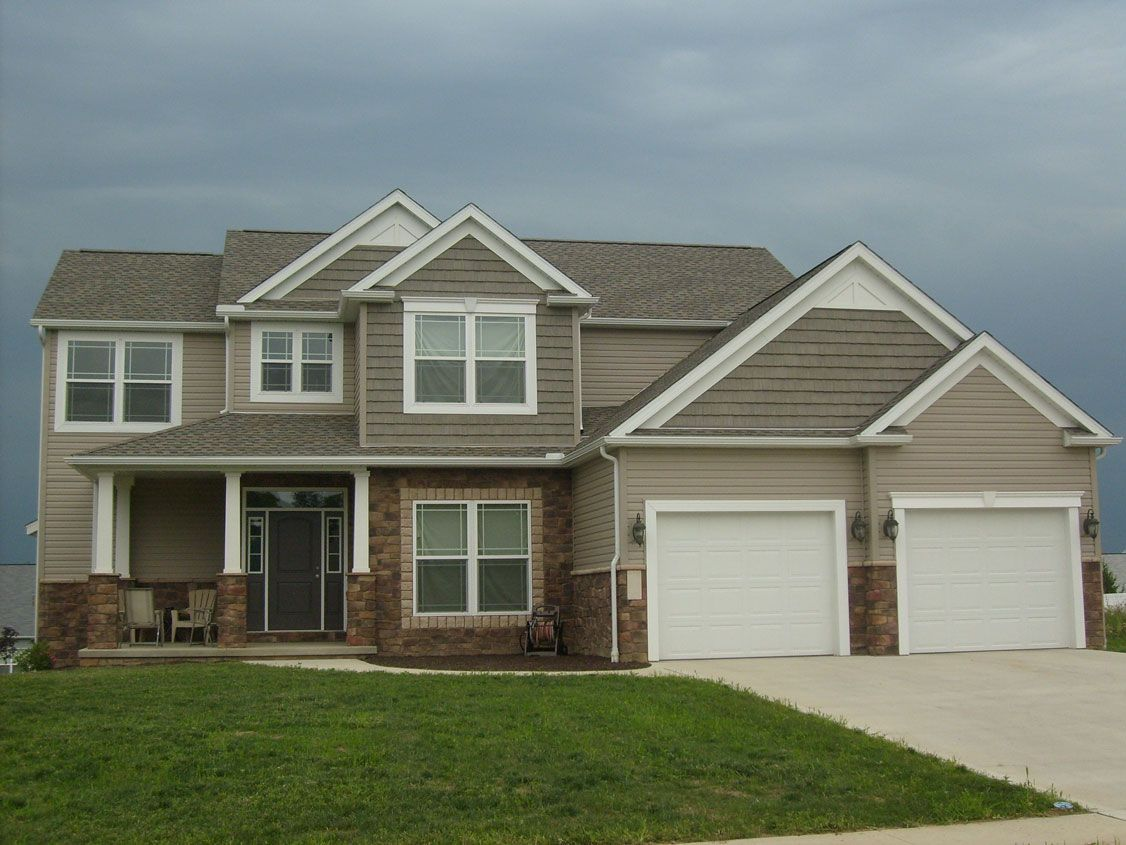 Vinyl Siding Colors Houses Clay Shakes White Aluminum Trim Canton Ohio