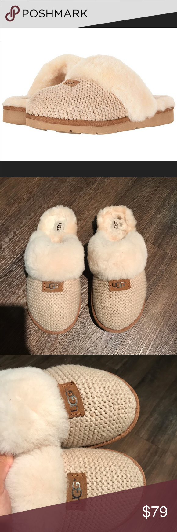 UGG 🔴 Cozy knot Shearling slipper In excellent preowned