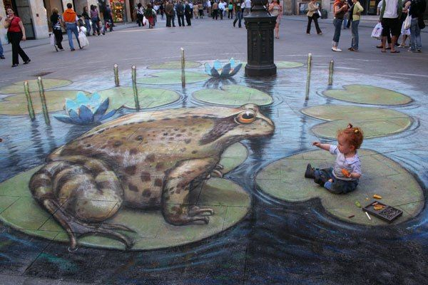4. Incredible 3d anamorphic illusions Julian Beever